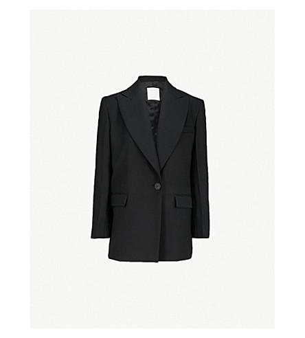 SANDRO Tailored crepe jacket (Noir