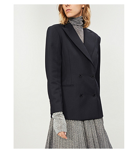 Double-breasted woven jacket(V7284H)