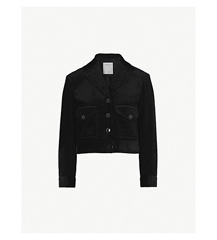 SANDRO Notch-lapel corduroy jacket (Noir
