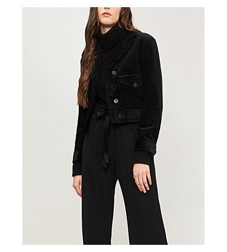 Notch-lapel corduroy jacket(V7311H)