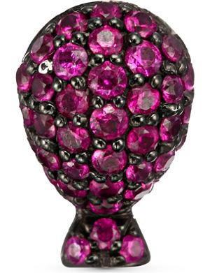 QEELIN Bobo ruby balloon earring stud