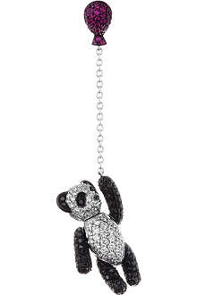 QEELIN Bobo diamond panda drop earring