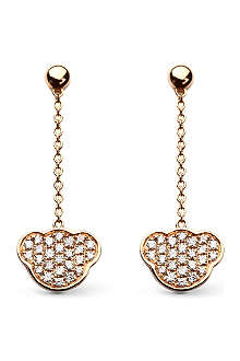 QEELIN Fashion Bobo 18ct rose gold diamond drop earrings