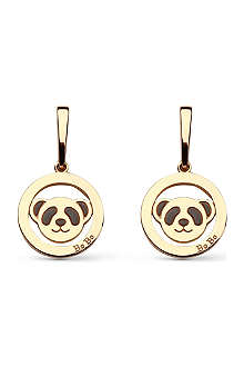 QEELIN Fashion Bobo 18ct gold stud earrings