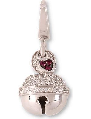 QEELIN Ling Long 18ct white gold pave set diamond pendant
