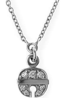 QEELIN Petite Ling Long 18ct white gold diamond necklace