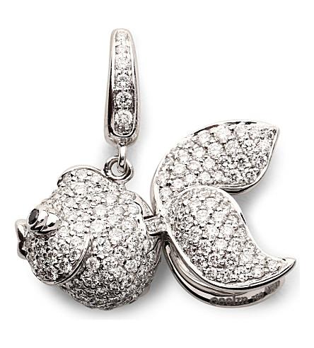 QEELIN Qin Qin small 18ct white gold diamond pendant (White gold