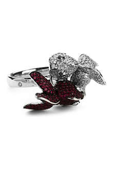 QEELIN Qinn Qin ring diamond and ruby ring