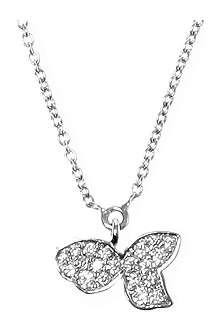 QEELIN Petite Qin Qin 18ct white gold diamond necklace
