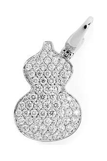 QEELIN Petite Wulu 18ct white gold diamond pendant