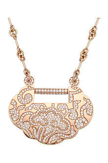 QEELIN Yuyi large floral-diamond necklace