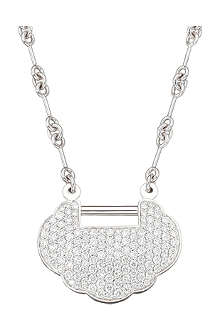 QEELIN Yu Yi full pave medium necklace