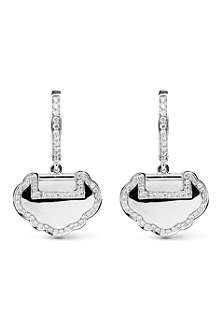 QEELIN Yu Yi 18ct white gold diamond earrings