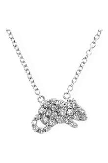 QEELIN Petite Rat white gold diamond pendant necklace