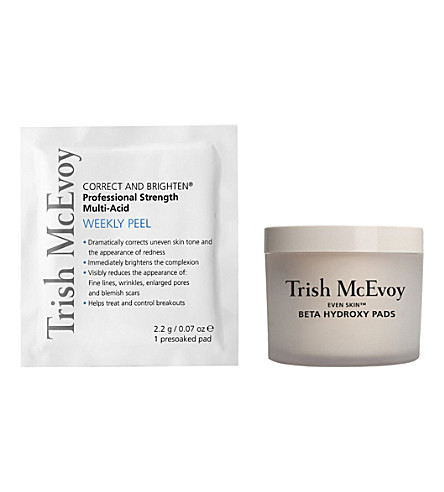 TRISH MCEVOY Beta Hydroxy Pad Daily Exfoliator and Correct and Brighten