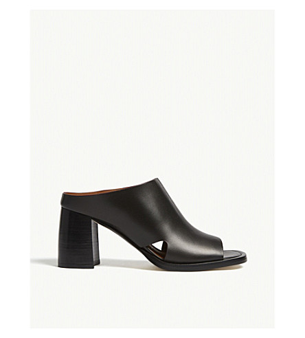 JOSEPH Leather mule sandals (Black