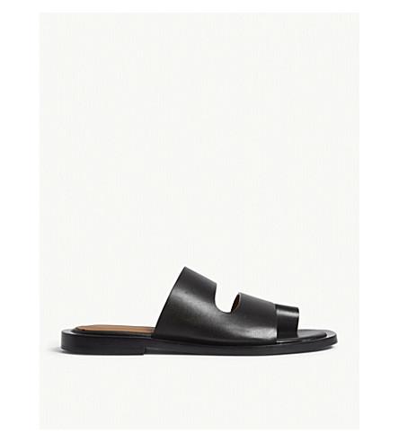 JOSEPH Santorini leather sandals (Black