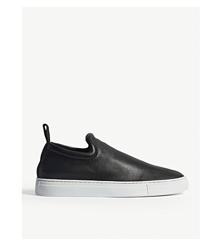 JOSEPH Murray leather slip-on trainers (Black