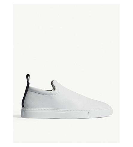 JOSEPH Murray leather slip-on trainers (White