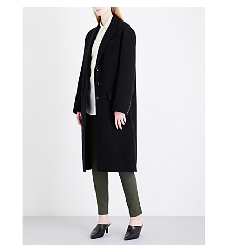 JOSEPH Simo wool and cashmere-blend coat (Black