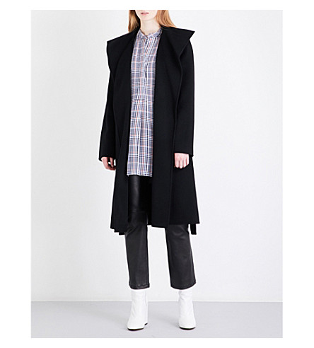 JOSEPH Lima wool and cashmere-blend coat (Black