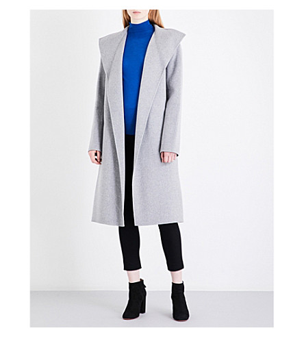 JOSEPH Lima wool and cashmere-blend coat (Concrete