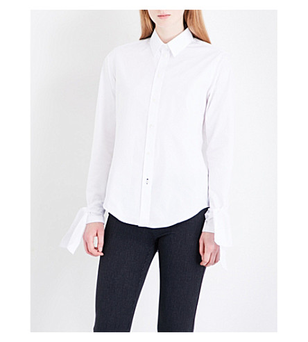 JOSEPH Thomas cotton-poplin shirt (White