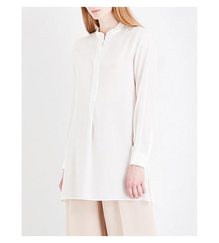 JOSEPH Lara silk-crepe de chine blouse (Chalk