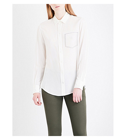 JOSEPH New Garcon silk-crepe de chine blouse (Chalk