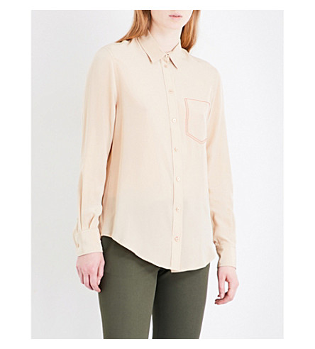 JOSEPH New Garcon silk-crepe de chine shirt (Stocking