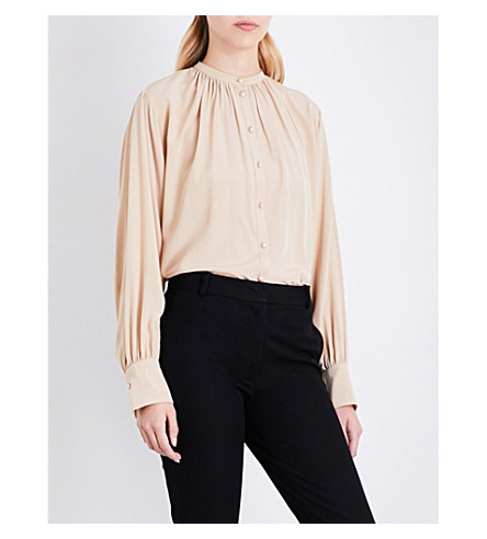 JOSEPH Everett silk-crepe de chine blouse (Stocking