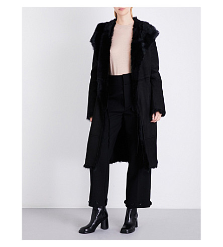 ... JOSEPH Toscana shearling coat (Black. PreviousNext