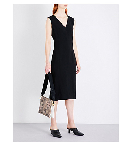 JOSEPH Dana tailored-fit crepe dress (Black