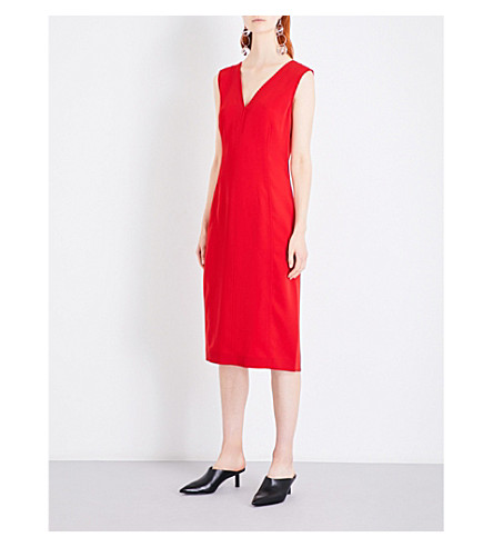 JOSEPH Dana tailored-fit crepe dress (Ruby