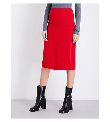 JOSEPH Flou Lark stretch-crepe skirt (Ruby
