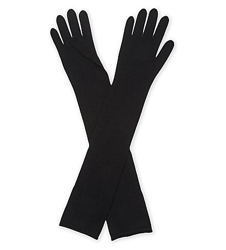 JOSEPH Cashmere long gloves (Black