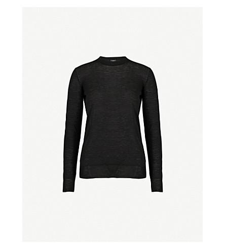 JOSEPH Ribbed-knit cashmere jumper (Black