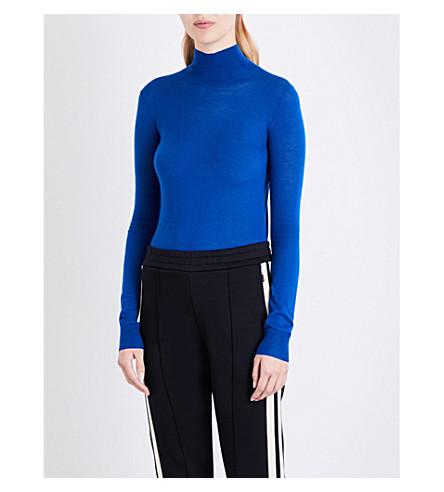JOSEPH Cashair turtleneck cashmere jumper (Saphire