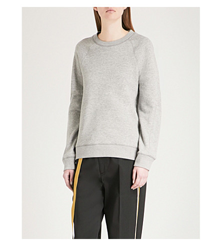 JOSEPH Molleton cotton-jersey sweatshirt (Grey+chine