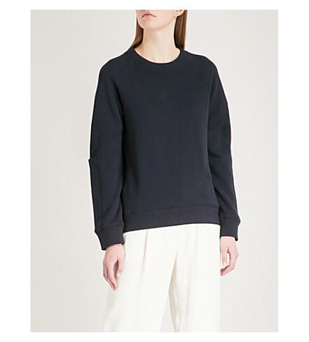 JOSEPH Molleton cotton-jersey sweatshirt (Navy