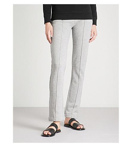 JOSEPH Molleton slim-fit cotton-jersey trousers (Grey+chine