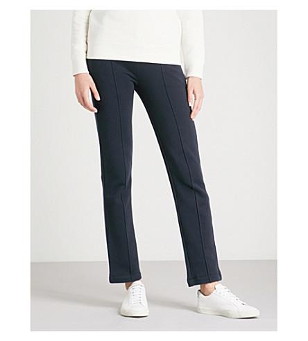 JOSEPH Molleton slim-fit cotton-jersey trousers (Navy