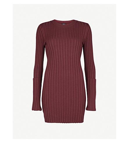 JOSEPH Zipped-detail wool-blend dress (Morgon