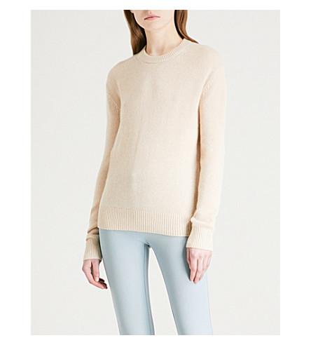JOSEPH Open-back cashmere jumper (Beige+chine