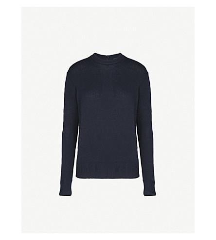 JOSEPH Keyhole cutout cashmere sweater (Navy