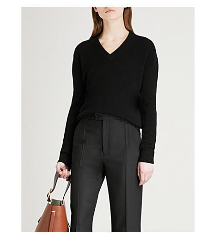 JOSEPH Open-back cashmere jumper (Black