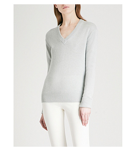 JOSEPH Open-back cashmere jumper (Watergreen