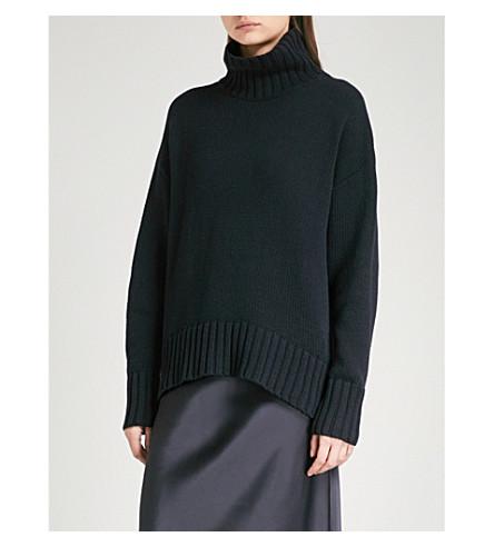 JOSEPH Sloppy Joe knitted jumper (Navy