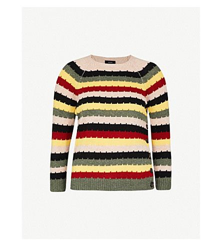 JOSEPH Striped wool jumper (Multicolor
