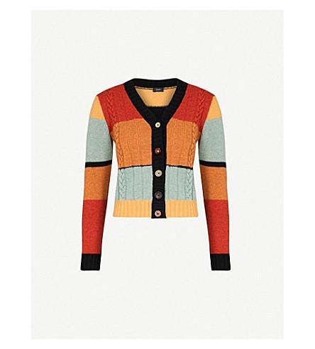 JOSEPH Striped wool cardigan (Multicolor
